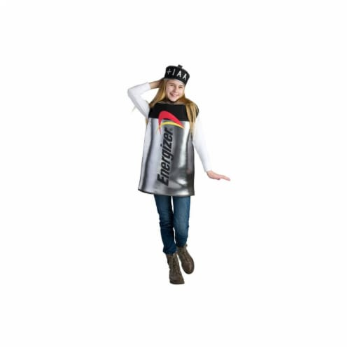Dress Up America 800-S Kids Energizer Battery Costume, Small - Age 4 to 6 Perspective: front
