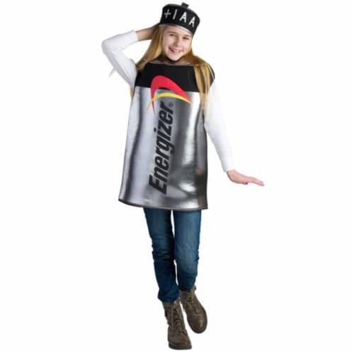 Dress Up America 800-T4 Kids Energizer Battery Costume, T4 Perspective: front