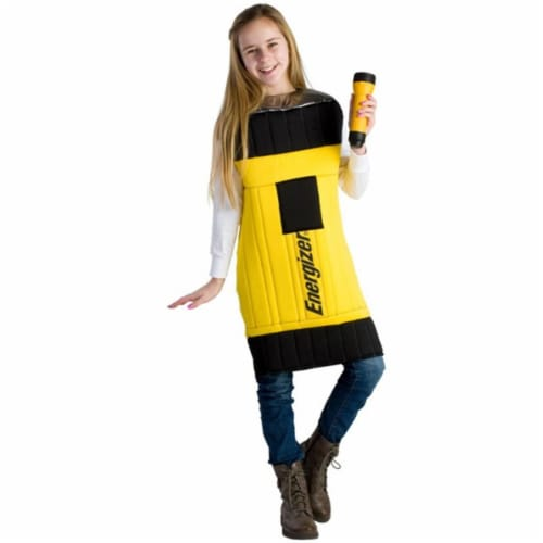 Dress Up America 802-M Kids Energizer Flashlight Costume, Medium - Age 8 to 10 Perspective: front