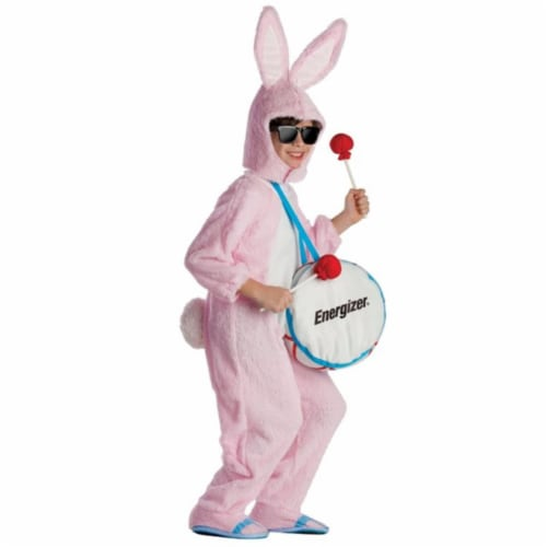 Dress Up America 806-S Energizer Bunny Mascot Costume, Small - Age 4 to 6 Perspective: front