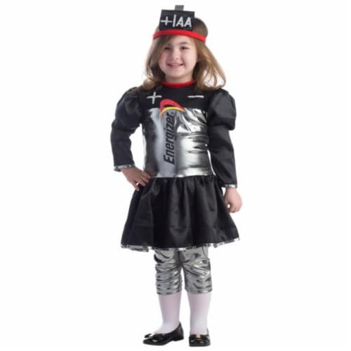 Dress Up America 808-S Toddler Energizer Battery Girls Dress, Small - Age 4 to 6 Perspective: front