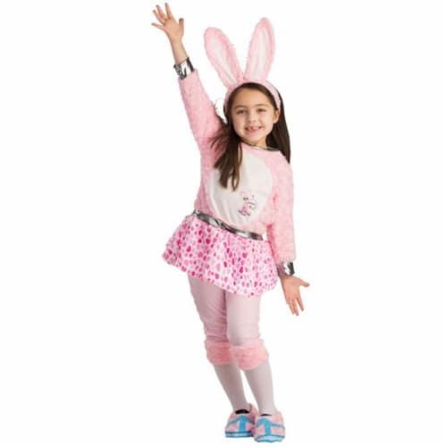 Dress Up America 811-S Toddler Energizer Bunny Girls Dress, Small - Age 4 to 6 Perspective: front