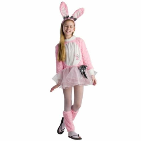 Dress Up America 812-M Tween Energizer Bunny Girls Dress, Medium Perspective: front