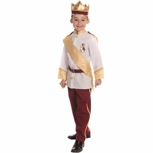 Dress Up America 839-M Royal Prince Costume, Medium - Age 8 to 10 Perspective: front