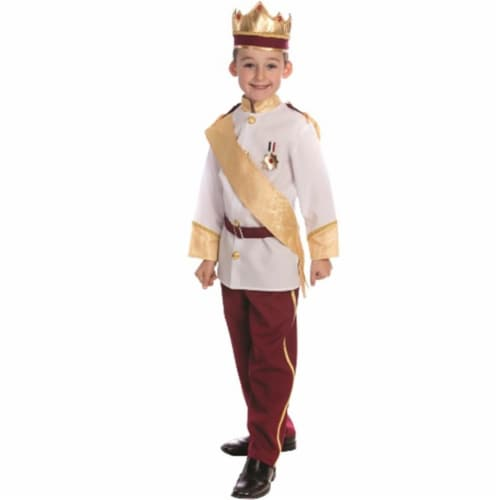 Dress Up America 839-S Royal Prince Costume, Small - Age 4 to 6 Perspective: front