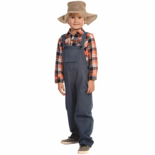 Dress Up America 840-S Farmer Costume, Small - Age 4 to 6 Perspective: front