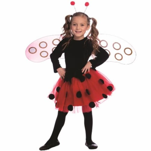 Dress Up America 841-L Ladybug Dress Costume, Large - Age 12 to 14 Perspective: front