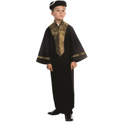 Dress Up America 843-L Sephardic Chacham Rabbi Costume, Large - Age 12 to 14 Perspective: front