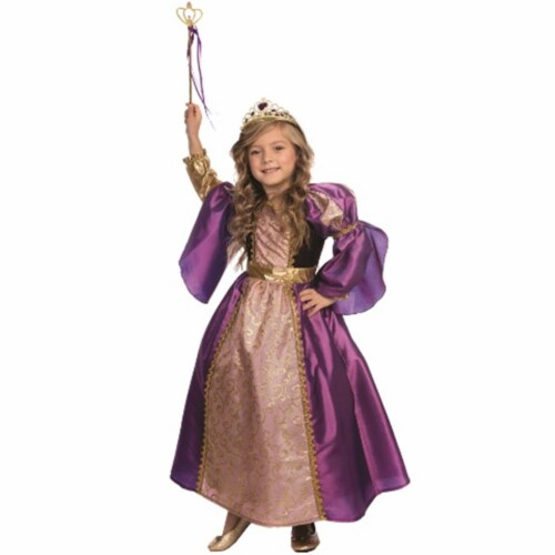 Dress Up America 846-L Purple Royalty Princess Costume, Large - Age 12 to 14 Perspective: front
