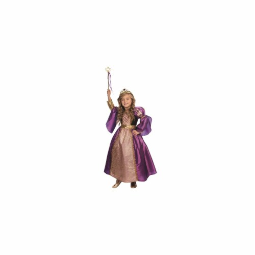 Dress Up America 846-T4 Purple Royalty Princess Costume, T4 Perspective: front