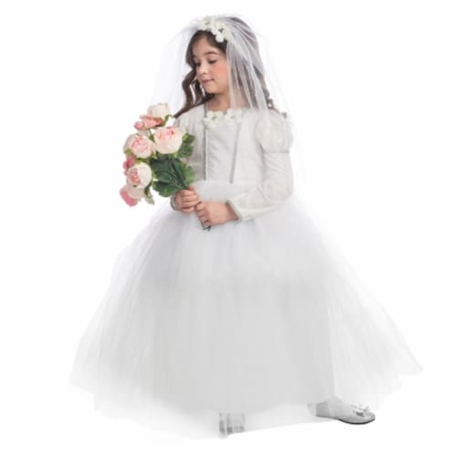 Dress Up America 847-L Bridal Princess Costume, Large - Age 12 to 14 Perspective: front