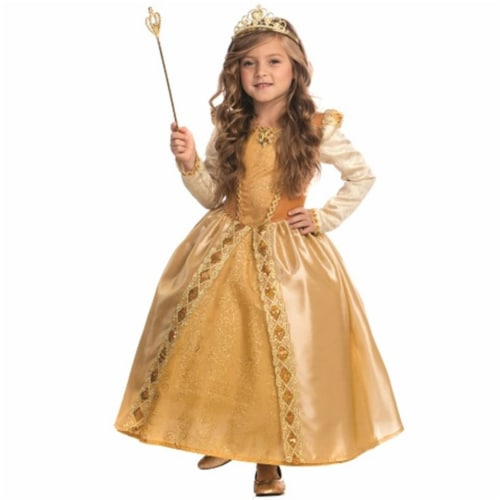 Dress Up America 848-L Majestic Golden Princess Costume, Large - Age 12 to 14 Perspective: front