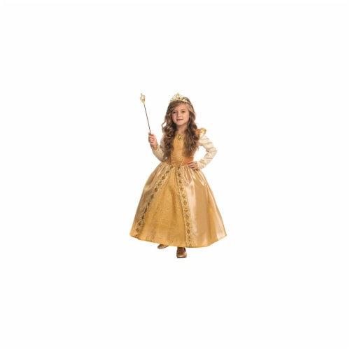 Dress Up America 848-M Majestic Golden Princess Costume, Medium - Age 8 to 10 Perspective: front