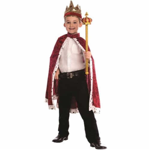 Dress Up America 849-R Kids Red King Robe Perspective: front
