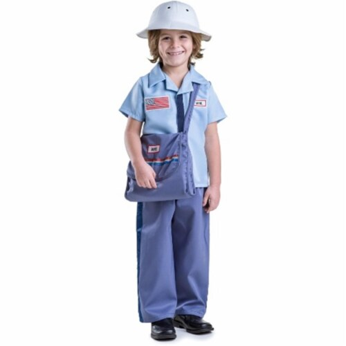Dress Up America 850-S Mail Carrier Costume, Small - Age 4 to 6 Perspective: front