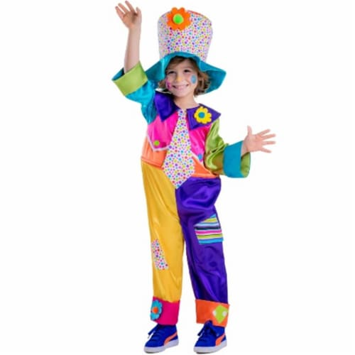 Dress Up America 851-L Circus Clown Costume, Large - Age 12 to 14 Perspective: front