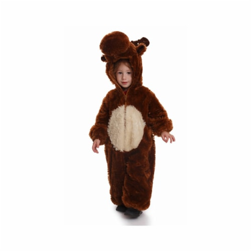 Dress Up America 865-S Kids Reindeer Costume - Small 4 - 6 Perspective: front