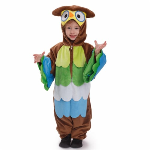 Dress Up America 872-T4 Hoo Hoo Owl Costume - Brown, Toddler 4 Perspective: front