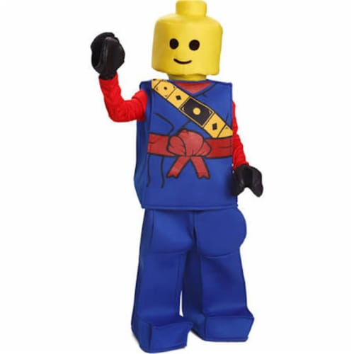 Dress Up America 873B-M Toy Block Ninja Costume, Blue - Medium Perspective: front