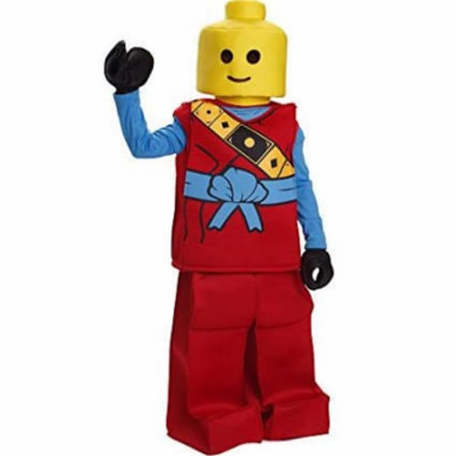 Dress Up America 873R-S Toy Block Ninja Costume, Red - Small Perspective: front
