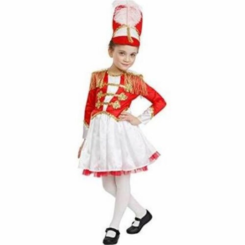 Dress Up America 876-L Fancy Drum Majorette Costume, Large Perspective: front