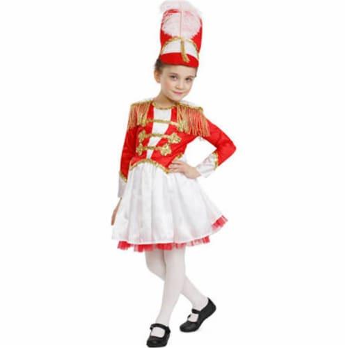 Dress Up America 876-M Fancy Drum Majorette Costume, Medium Perspective: front
