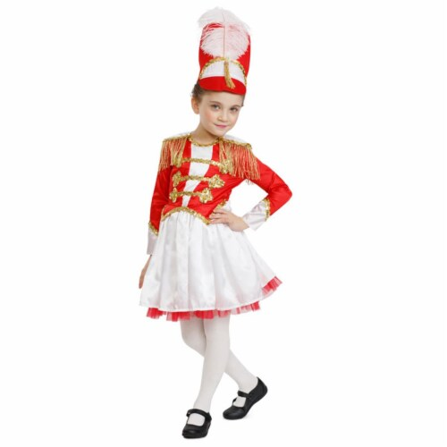 Dress Up America 876-S Fancy Drum Majorette Costume, Small 4 - 6 Perspective: front