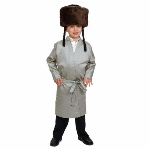 Dress Up America 877-S Striped Yerushalmi Chasidic Bekitcha Costume, Small 4 - 6 Perspective: front