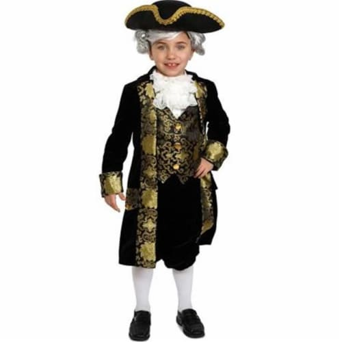 Dress Up America 878-T2 Historical George Washington Costume, Size T2 Perspective: front
