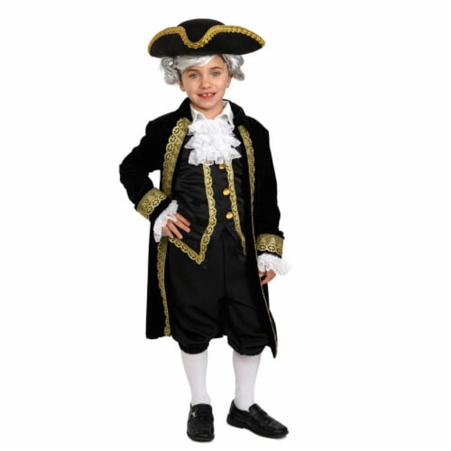Dress Up America 879-S Historical Alexander Hamilton Costume for 4 to 6 Years Kids, Small Perspective: front