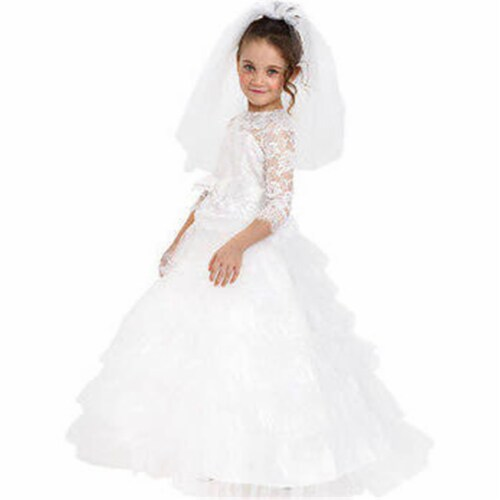 Dress Up America 881-M Dreamy Bride Costume, Medium Perspective: front