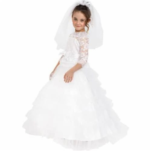 Dress Up America 881-S Dreamy Bride Costume, Small Perspective: front