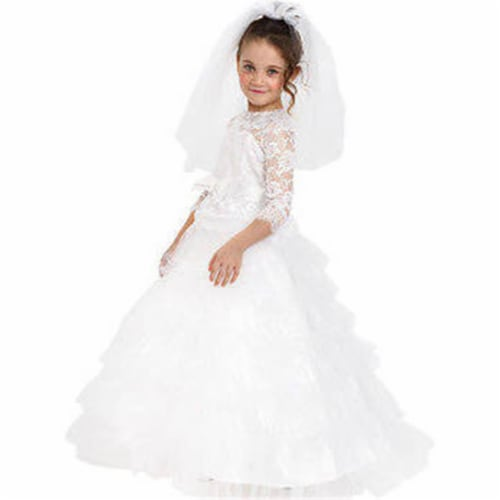 Dress Up America 881-T2 Dreamy Bride Costume, Size T2 Perspective: front