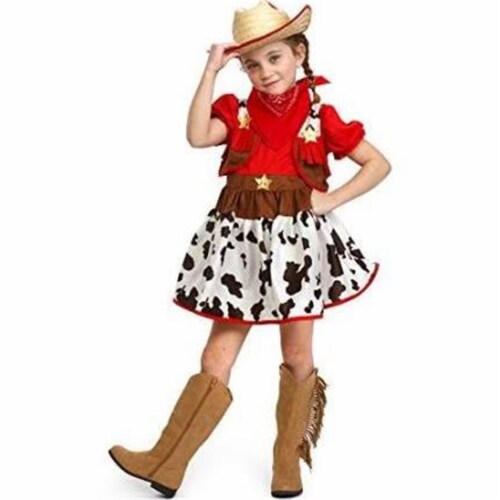 Dress Up America 882-S Cowgirl Halloween Costume, Small Perspective: front