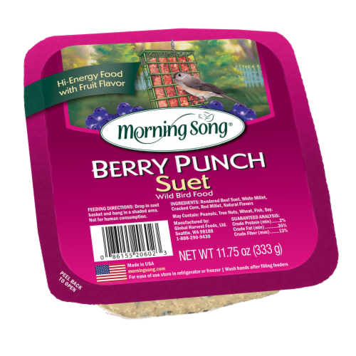 Morning Song Berry Punch Suet Perspective: front