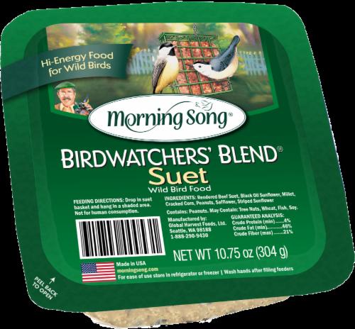 Morning Song Birdwatcher's Blend Suet Perspective: front