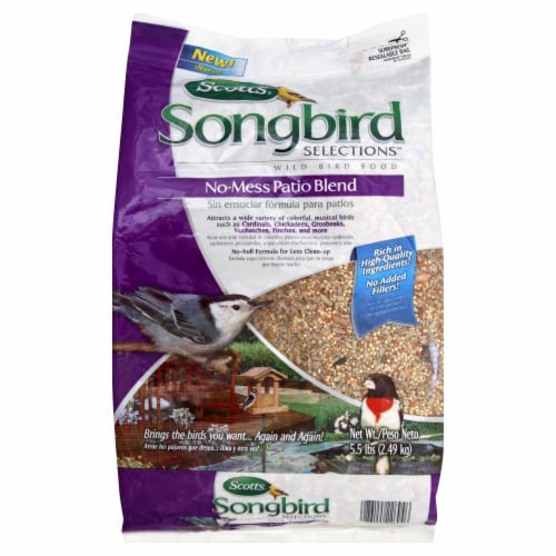 Scotts Songbird Selections Wild Bird Seed Patio Blend Perspective: front