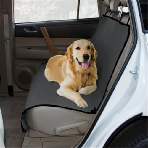Yes Pets 59-90042GRY Oxford Waterproof, Tear Proof Bench Style Car Seat Cover - 100 Percent P Perspective: front