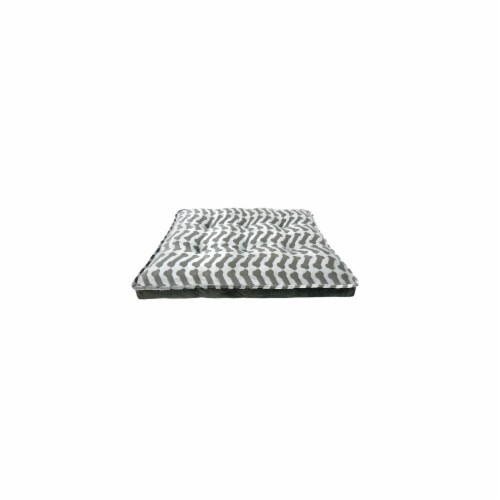 Arlee Home Fashions AR07678 Orthopedic Waterproof Mattress Bone Dog Bed - Grey, Large Perspective: front