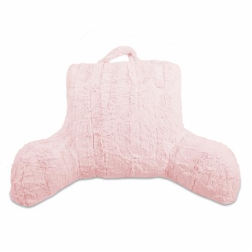 Arlee Home Fashion Faux Mink Fur Rhonda Bed Rest - Blush Perspective: front