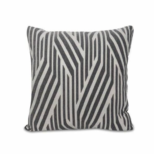 Arlee Home Fashions Alloy Felix Pillow - Grey/White Perspective: front