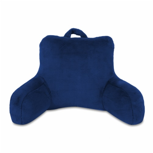 Arlee Home Fashions Rabbit Fur Bed Rest - Navy Perspective: front