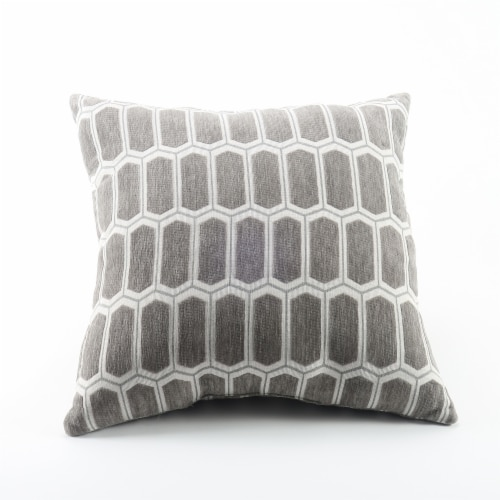 Arlee Home Fashions Enzo Moonrock Decor Pillow - Gray Perspective: front