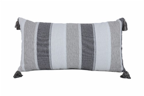 Arlee Home Fashions Naples Stripe Decor Pillow - White/Gray Perspective: front