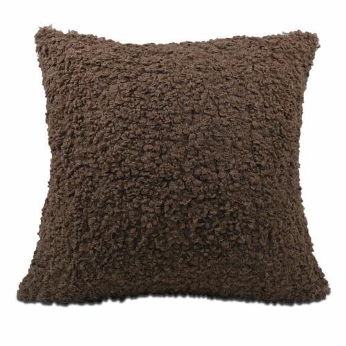 Arlee Home Fashions Andora Fur Decor Pillow - Mocha Perspective: front