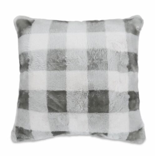 Arlee Home Fashions Buffalo Rabbit Decor Pillow - Gray Perspective: front