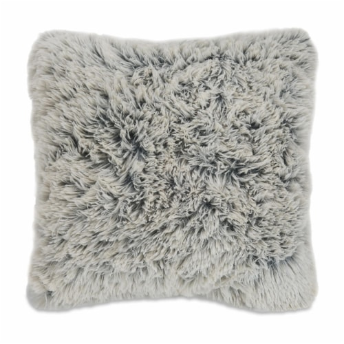 Arlee Home Fashions Shag Fur Decor Pillow - Beige Perspective: front