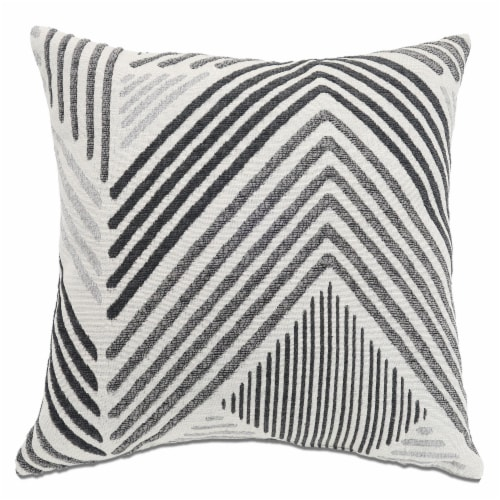 Arlee Home Fashions Chevron Peak Decor Pillow - Gray Perspective: front