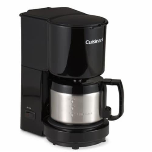 Cuisinart 4-Cup Coffeemaker - Black/Stainless Steel Perspective: front