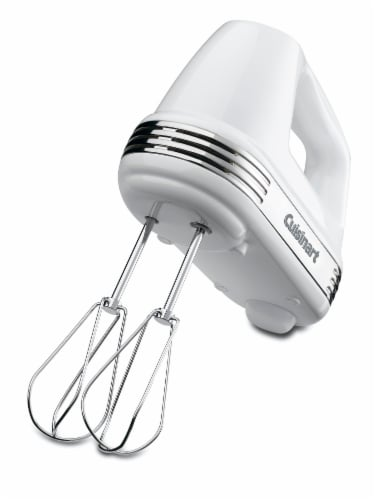 Cuisinart Power Advavntage 5-Speed Hand Mixer - White Perspective: front